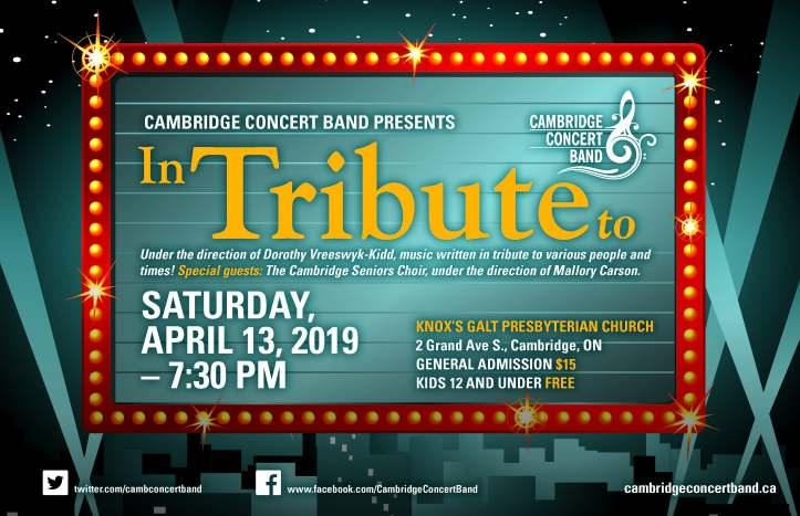 Cambridge Concert Band_InTributeTo Poster